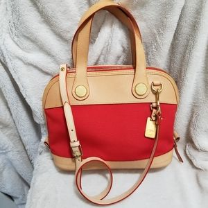 DOONEY & BOURKE RED CABRIOLET B02741 SATCHEL